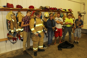 Tamaqua Salvation Army Youth Group Visits South Ward Fire Company, Tamaqua, 10-8-2015 (66)