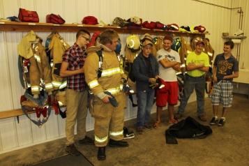 Tamaqua Salvation Army Youth Group Visits South Ward Fire Company, Tamaqua, 10-8-2015 (66)