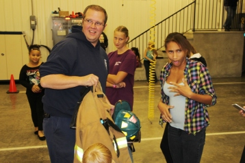 Tamaqua Salvation Army Youth Group Visits South Ward Fire Company, Tamaqua, 10-8-2015 (67)