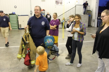 Tamaqua Salvation Army Youth Group Visits South Ward Fire Company, Tamaqua, 10-8-2015 (68)