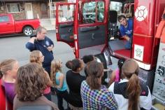Tamaqua Salvation Army Youth Group Visits South Ward Fire Company, Tamaqua, 10-8-2015 (7)
