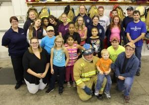 Tamaqua Salvation Army Youth Group Visits South Ward Fire Company, Tamaqua, 10-8-2015 (76)