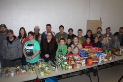 Tamaqua Troop, Pack, 777, Collecting, Sorting, Donations, Salvation Army, Tamaqua, 11-14-2015 (6)