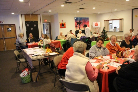 Thanksgiving and Christmas Party, Old and Bolder Group, Salvation Army, Tamaqua, 11-18-2015 (67)