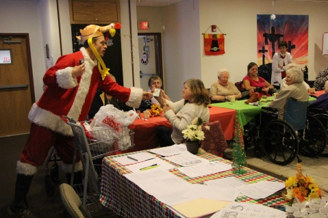 Thanksgiving and Christmas Party, Old and Bolder Group, Salvation Army, Tamaqua, 11-18-2015 (92)
