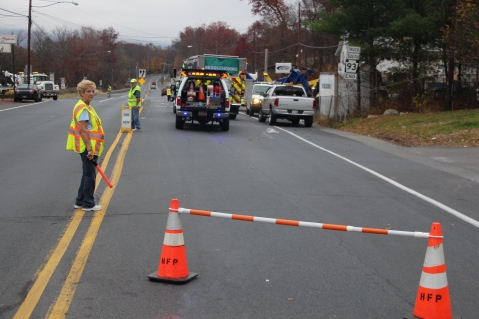Tractor Trailer Overturns, US209, SR93, Nesquehoning, 11-5-2015 (1)