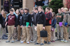 Veterans Day Program, Flag Pole, Tamaqua Area High School, Tamaqua, 11-11-2015 (13)