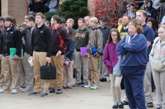 Veterans Day Program, Flag Pole, Tamaqua Area High School, Tamaqua, 11-11-2015 (14)