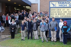 Veterans Day Program, Flag Pole, Tamaqua Area High School, Tamaqua, 11-11-2015 (17)