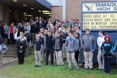 Veterans Day Program, Flag Pole, Tamaqua Area High School, Tamaqua, 11-11-2015 (17)