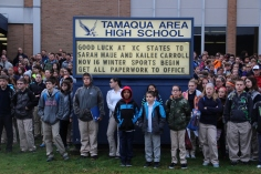 Veterans Day Program, Flag Pole, Tamaqua Area High School, Tamaqua, 11-11-2015 (18)