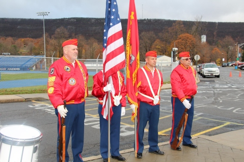 Veterans Day Program, Flag Pole, Tamaqua Area High School, Tamaqua, 11-11-2015 (23)