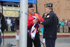 Veterans Day Program, Flag Pole, Tamaqua Area High School, Tamaqua, 11-11-2015 (27)