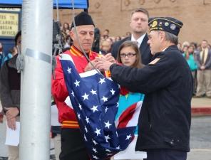 Veterans Day Program, Flag Pole, Tamaqua Area High School, Tamaqua, 11-11-2015 (29)