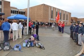 Veterans Day Program, Flag Pole, Tamaqua Area High School, Tamaqua, 11-11-2015 (30)