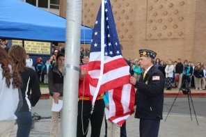 Veterans Day Program, Flag Pole, Tamaqua Area High School, Tamaqua, 11-11-2015 (31)