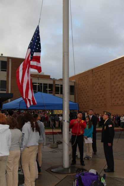 Veterans Day Program, Flag Pole, Tamaqua Area High School, Tamaqua, 11-11-2015 (32)