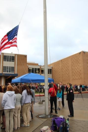 Veterans Day Program, Flag Pole, Tamaqua Area High School, Tamaqua, 11-11-2015 (33)