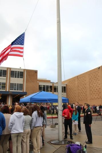 Veterans Day Program, Flag Pole, Tamaqua Area High School, Tamaqua, 11-11-2015 (34)