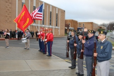 Veterans Day Program, Flag Pole, Tamaqua Area High School, Tamaqua, 11-11-2015 (37)