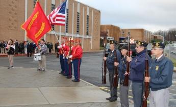 Veterans Day Program, Flag Pole, Tamaqua Area High School, Tamaqua, 11-11-2015 (37)