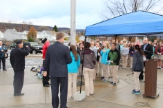 Veterans Day Program, Flag Pole, Tamaqua Area High School, Tamaqua, 11-11-2015 (38)