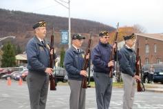Veterans Day Program, Flag Pole, Tamaqua Area High School, Tamaqua, 11-11-2015 (40)