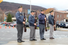 Veterans Day Program, Flag Pole, Tamaqua Area High School, Tamaqua, 11-11-2015 (49)