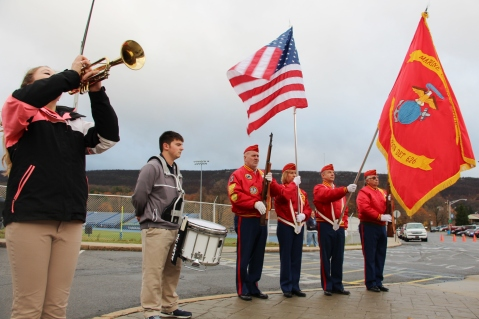 Veterans Day Program, Flag Pole, Tamaqua Area High School, Tamaqua, 11-11-2015 (50)