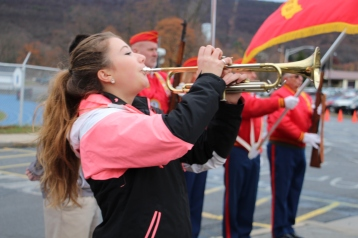 Veterans Day Program, Flag Pole, Tamaqua Area High School, Tamaqua, 11-11-2015 (52)