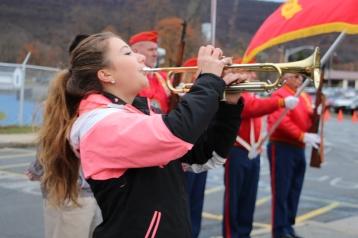 Veterans Day Program, Flag Pole, Tamaqua Area High School, Tamaqua, 11-11-2015 (52)