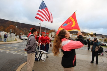 Veterans Day Program, Flag Pole, Tamaqua Area High School, Tamaqua, 11-11-2015 (54)
