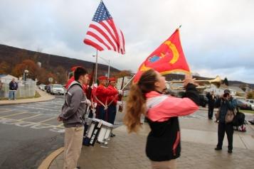Veterans Day Program, Flag Pole, Tamaqua Area High School, Tamaqua, 11-11-2015 (54)
