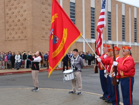 Veterans Day Program, Flag Pole, Tamaqua Area High School, Tamaqua, 11-11-2015 (56)