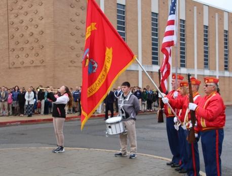 Veterans Day Program, Flag Pole, Tamaqua Area High School, Tamaqua, 11-11-2015 (56)