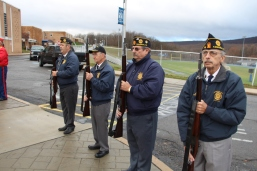 Veterans Day Program, Flag Pole, Tamaqua Area High School, Tamaqua, 11-11-2015 (58)
