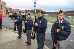 Veterans Day Program, Flag Pole, Tamaqua Area High School, Tamaqua, 11-11-2015 (58)