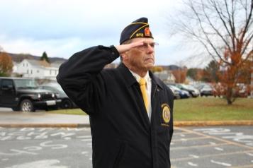 Veterans Day Program, Flag Pole, Tamaqua Area High School, Tamaqua, 11-11-2015 (60)