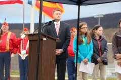 Veterans Day Program, Flag Pole, Tamaqua Area High School, Tamaqua, 11-11-2015 (62)