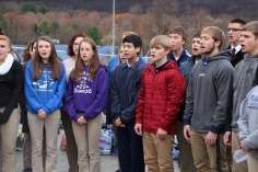 Veterans Day Program, Flag Pole, Tamaqua Area High School, Tamaqua, 11-11-2015 (68)