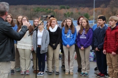 Veterans Day Program, Flag Pole, Tamaqua Area High School, Tamaqua, 11-11-2015 (69)