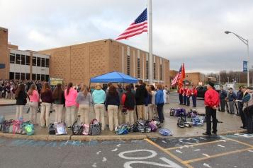 Veterans Day Program, Flag Pole, Tamaqua Area High School, Tamaqua, 11-11-2015 (72)