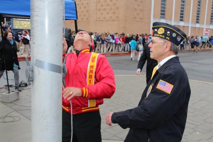 Veterans Day Program, Flag Pole, Tamaqua Area High School, Tamaqua, 11-11-2015 (81)