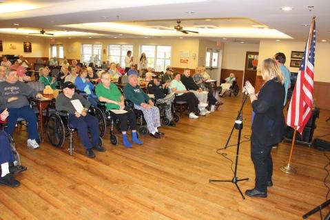Veterans Program, Hometown Nursing and Rehabilitation Center, Hometown, 11-9-2015 (3)