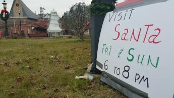 12-11, 13-2015, Pre Visit with Santa Claus, Depot Square Park, Tamaqua
