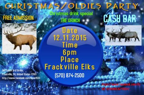 12-11-2015, Christmas Oldies Party, Frackville Elks Lodge, Frackville
