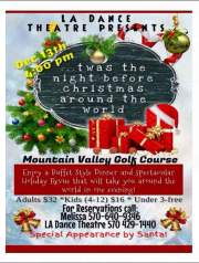 12-13-2015, Performance of Twas the Night Before Christmas Around the World, Mountain Valley Golf Course, Barnesville