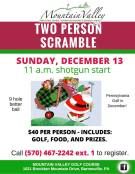 12-13-2015, Two Person Scramble, Mountain Valley Golf Course, Barnesville
