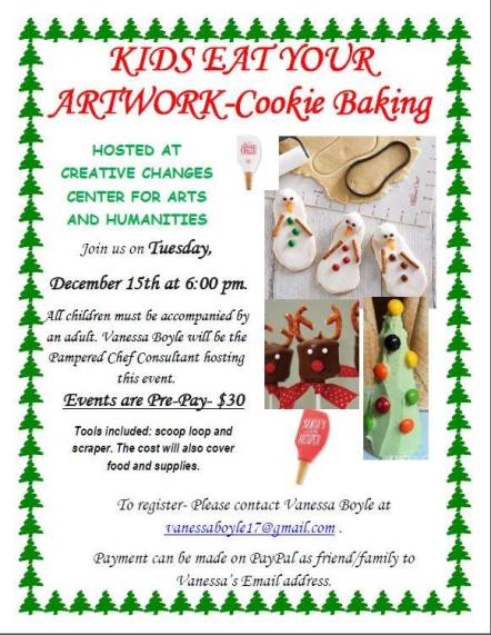 12-15-2015, Kids Eat Your Artwork - Cookie Baking, Creative Changes Center, Brockton