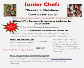 12-16-2015, Junior Chef's Decorate Cookies For Santa, Citizen's Fire Company, Tamaqua